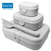 KOZIOL Lunchbox-Set Organic grau