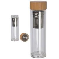 Doppelwandige Vakuum-Glasflasche
